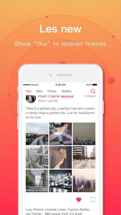 「LesPark Lite - レズ専用友達募集出会いアプリ」のスクリーンショット 3枚目