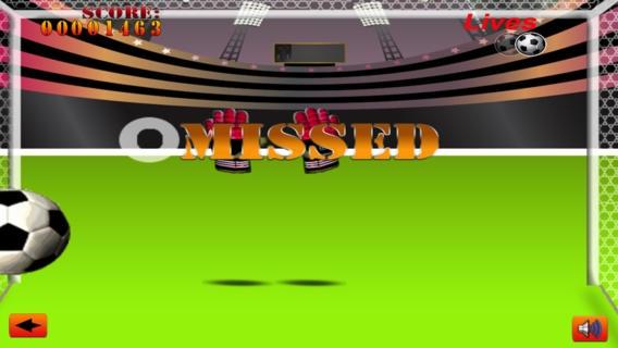 「サッカーのゴールキーパーの無料ゲーム - Soccer Goalie Free Game」のスクリーンショット 2枚目
