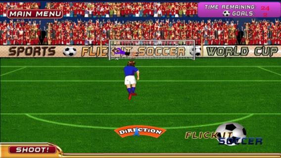 「プロのサッカー ゲームをフリックします。 - Flick It Soccer Pro Game」のスクリーンショット 2枚目