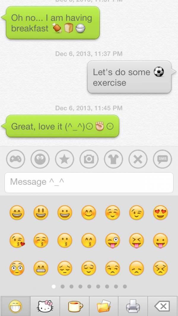 「絵文字 Dream Emoji 3 – talk with emoticon smiley face in emoji keyboard ^_^」のスクリーンショット 2枚目