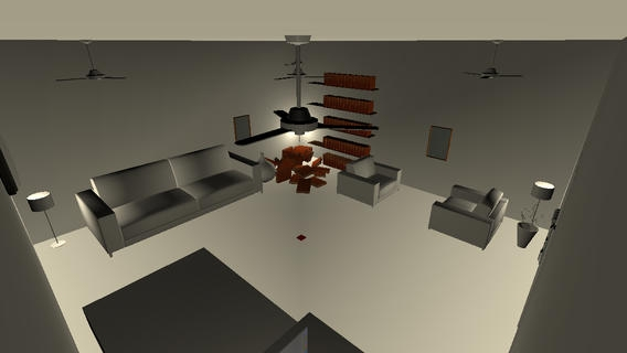 「3D脱出ゲーム-white room-」のスクリーンショット 1枚目