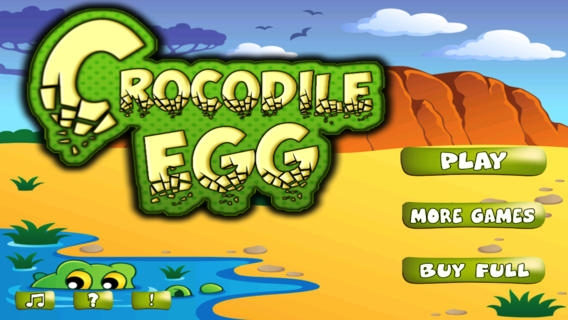 「Crocodile Egg - Avoid The Pitfall While Crossing」のスクリーンショット 1枚目