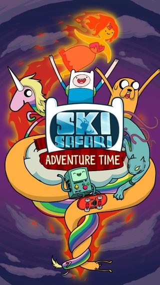 「Ski Safari: Adventure Time - アドベンチャー・タイム - フィンとBMOと一緒にすごい技をきめ、エンドレスなスキーゲームを楽しもう」のスクリーンショット 1枚目