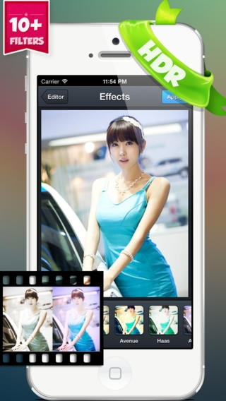 「Cool HDR Photo Editor - Make and Create Fast Quick Edit for Your Photos w/ Image Effect & Editing Effects」のスクリーンショット 1枚目