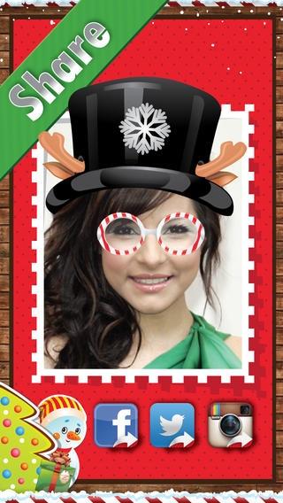 「Christmas Santa Makeup Photo Booth」のスクリーンショット 2枚目