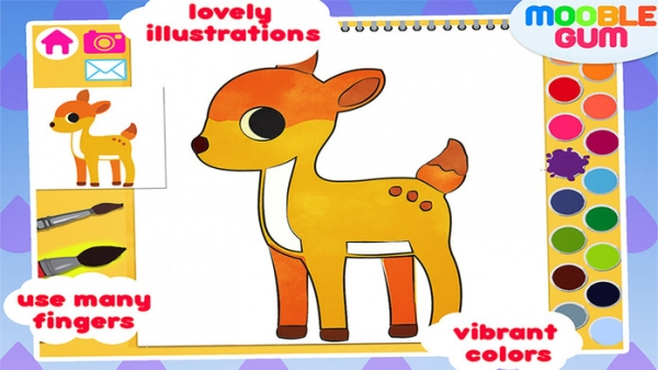 「animal coloring book & Art Studio - painting app for children  - learn how to paint cute jungle animals」のスクリーンショット 3枚目