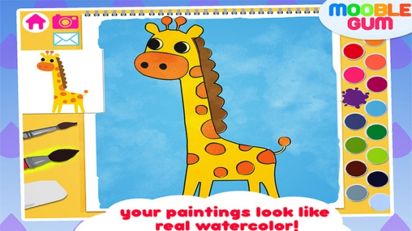 「animal coloring book & Art Studio - painting app for children  - learn how to paint cute jungle animals」のスクリーンショット 2枚目
