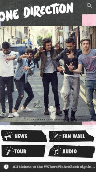 「One Direction Official」のスクリーンショット 1枚目