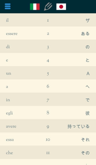 「Easy Learning イタリア語 - 翻訳する & 学ぶ - 60+ 言語, クイズ, 頻繁に単語リスト, 語彙」のスクリーンショット 2枚目