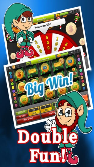 「Santa's Kettle of Gold Slots FREE – Spin the Holiday Bonus Casino Wheel , Big Win Payout Slot Machine」のスクリーンショット 1枚目