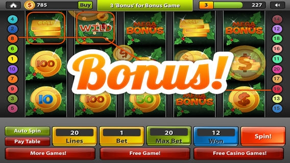 「Santa's Kettle of Gold Slots FREE – Spin the Holiday Bonus Casino Wheel , Big Win Payout Slot Machine」のスクリーンショット 2枚目