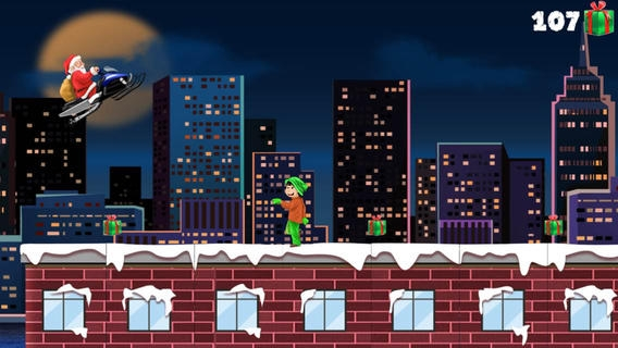 「A Santa Claus Christmas Run - Free HD Racing Game」のスクリーンショット 2枚目