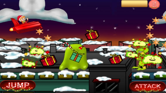 「Amazing Rocket Santa Sleigh Christmas Chase - Throw Prezzies to Beat The Grinch」のスクリーンショット 2枚目