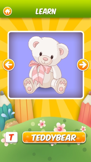 「ABC Flashcards HD - The Best flash cards game app for children」のスクリーンショット 1枚目