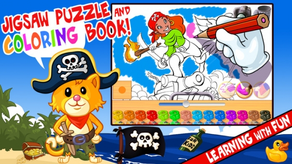 「My Pirates Puzzles - Mr. Pepper's Pirate Puzzle For Preschool Kids and Toddlers」のスクリーンショット 2枚目