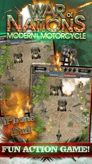 「A Modern Motorcycle War of States - Real Offroad Dirt Bike Racing Shooter Game HD PRO」のスクリーンショット 2枚目
