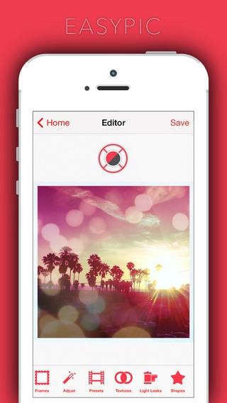 「EasyPic - photoeditor,capture & edit favourite snaps use afterlight filter n effects photoediting awesome fun!」のスクリーンショット 2枚目