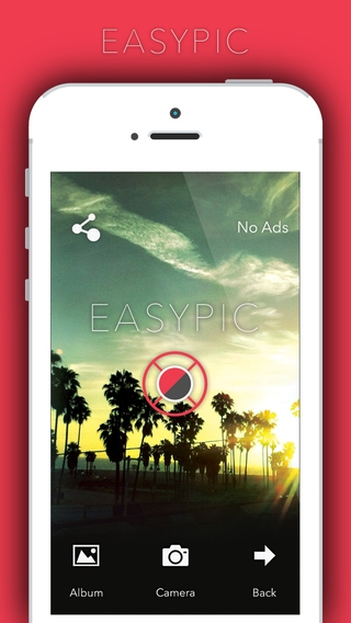 「EasyPic - photoeditor,capture & edit favourite snaps use afterlight filter n effects photoediting awesome fun!」のスクリーンショット 1枚目