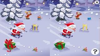 「サンタクロース、トナカイルドルフ、ギフト、そして雪のたくさんの幼稚園、幼稚園や保育園のためのパズルやゲーム:クリスマスについての子供の年齢2-5のためのゲーム。無償、新しい!」のスクリーンショット 2枚目