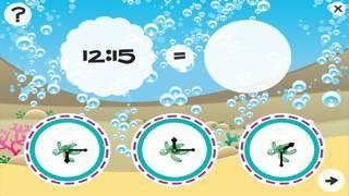 「それは何時ですか?子どもたちは海の動物と時計の読み方を学ぶためのゲーム。ゲームや幼稚園、幼稚園や保育園のための演習」のスクリーンショット 3枚目