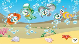 「それは何時ですか?子どもたちは海の動物と時計の読み方を学ぶためのゲーム。ゲームや幼稚園、幼稚園や保育園のための演習」のスクリーンショット 1枚目