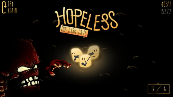 「絶望:暗い洞窟」のスクリーンショット 1枚目