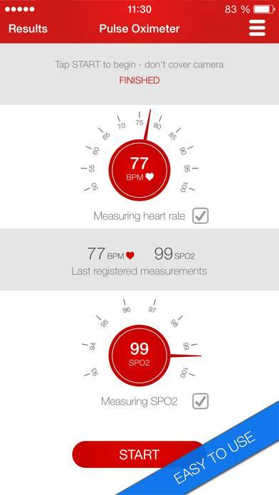 「Pulse Oximeter - Heart and Oxygen Monitor」のスクリーンショット 2枚目