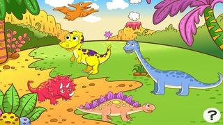 「ティラノサウルスレックス、および多く幼稚園、幼稚園や保育園のためのゲームやパズル:恐竜についての子供の年齢2-5のためのゲーム。化石、爬虫類、両生類、トカゲと先史時代の楽しい」のスクリーンショット 1枚目