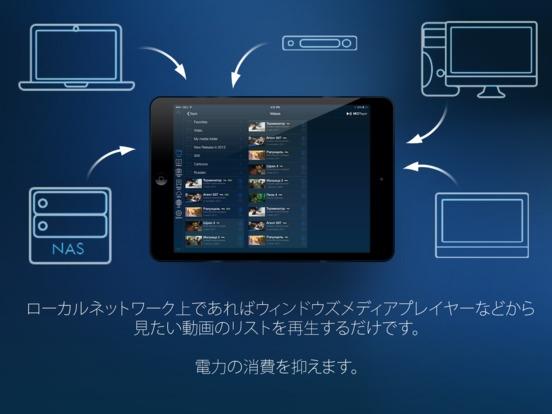 「iPadはコピーせずにビデオを再生するためのMCPlayer HD Proのワイヤレスビデオプレーヤー」のスクリーンショット 2枚目
