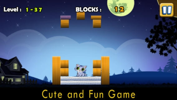 「落ちる猫無料 - 楽しいかわいいペット子猫物理学ゲーム」のスクリーンショット 2枚目