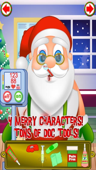 「Christmas Doctor's Office Hospital - Santa and Celebrity Holiday Pals」のスクリーンショット 2枚目