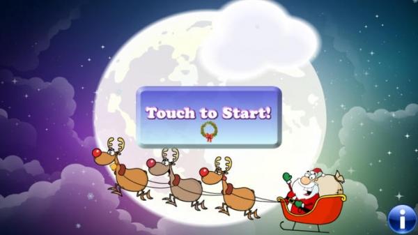 「幼児や子供のためのクリスマスのパズル。サンタクロースを発見!教育用パズルゲーム - 子供のためのゲーム - 幼児用パズル - 無料アプリ」のスクリーンショット 1枚目