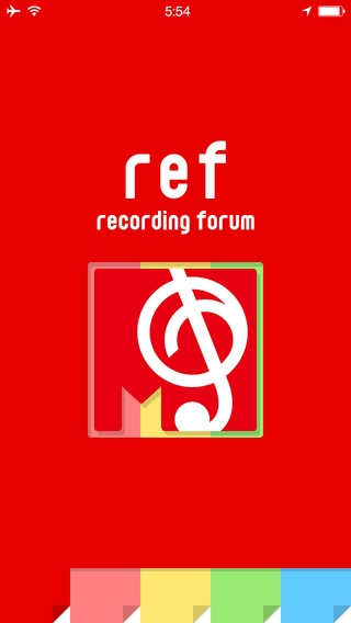 「ref - レコーディングフォーラム公式アプリ」のスクリーンショット 1枚目