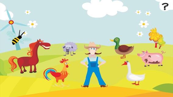 「ABC 農場 !子供のためのゲーム: 学ぶ 言葉や動物とアルファベットを書き込むことができます。無償、新しい、幼稚園、保育園、学校のために、学習!」のスクリーンショット 1枚目