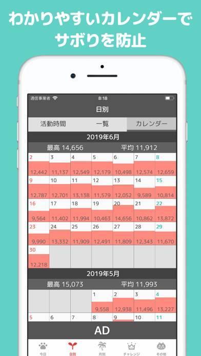 「歩数計POPOPO シンプルで多機能な歩数計」のスクリーンショット 3枚目