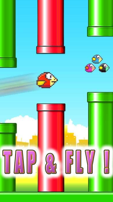「Jumpy Red Bird - Tube Hopper」のスクリーンショット 2枚目