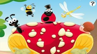 「森の昆虫約子供の年齢2-5のためのゲーム。幼稚園、保育園や保育所のためのゲームやパズル。動物、クモ、アリ、蚊、蝶、木々や花と遊ぶ。無償、新しい教育!」のスクリーンショット 1枚目