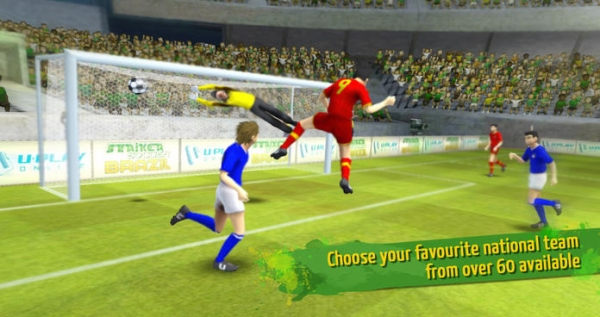 「Striker Soccer Brazil: lead your team to the top of the world」のスクリーンショット 1枚目