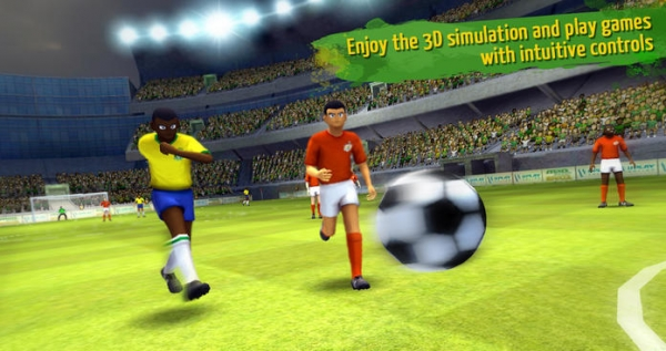 「Striker Soccer Brazil: lead your team to the top of the world」のスクリーンショット 3枚目