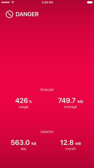 「DataMan Pro - the smartest app to manage your data usage」のスクリーンショット 1枚目