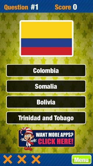 「国旗世界トリビアゲームフリーアトラスクイズゲーム」のスクリーンショット 2枚目