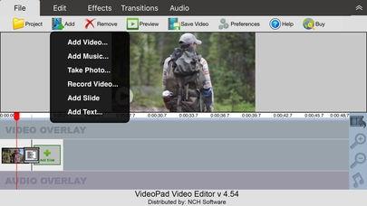 「VideoPad Video Editor Free」のスクリーンショット 3枚目