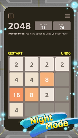 「2048 Number Puzzle game + Best 2048 app with unlimited undo feature, 5x5 mode, time survival mode plus #1 multiplayer」のスクリーンショット 2枚目