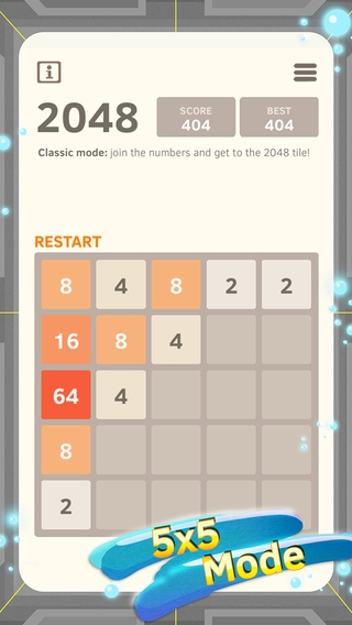 「2048 Number Puzzle game + Best 2048 app with unlimited undo feature, 5x5 mode, time survival mode plus #1 multiplayer」のスクリーンショット 3枚目