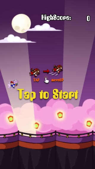 「Flappy東方」のスクリーンショット 2枚目