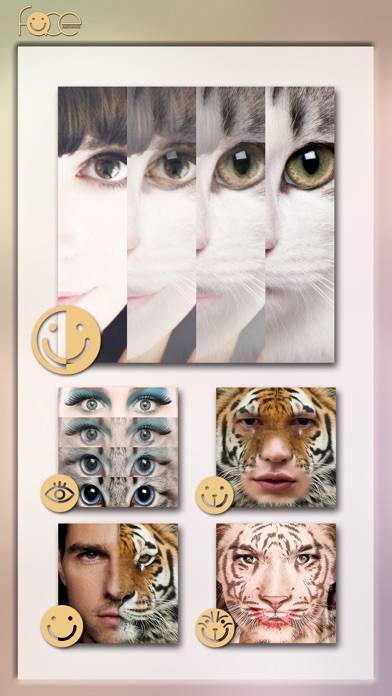 「InstaFace:face eyes blend morph with animal effect」のスクリーンショット 3枚目