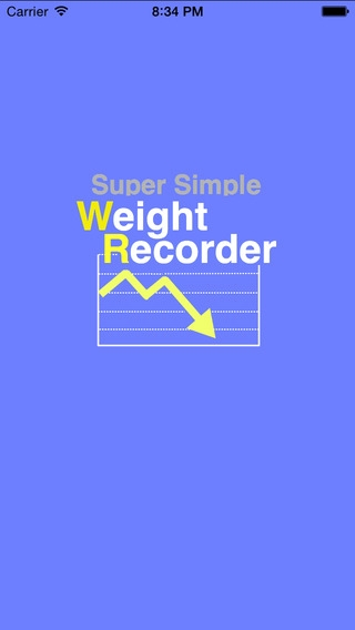 「超シンプル体重記録」のスクリーンショット 1枚目