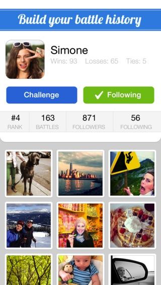 「SocialBattles - Battle with your photos」のスクリーンショット 2枚目