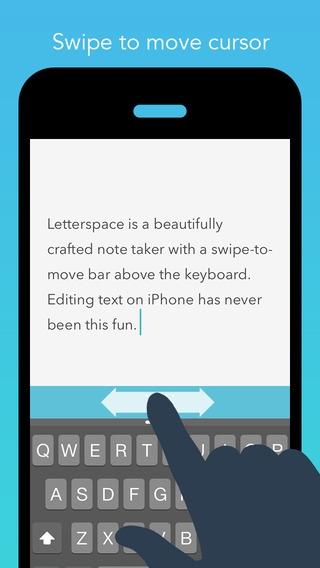 「Letterspace – Swipe. Edit. Note.」のスクリーンショット 1枚目