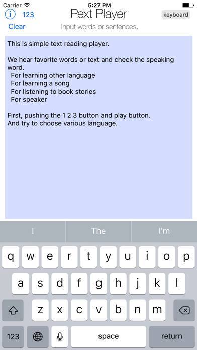 「text player」のスクリーンショット 2枚目